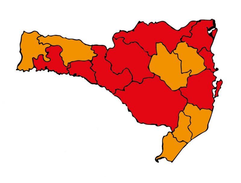 mapa de risco coronavirus