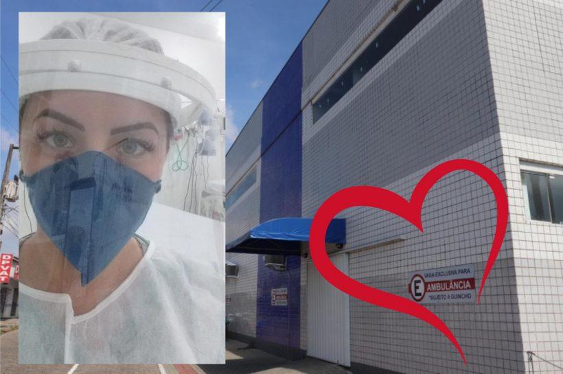 enfermeira Liara hospital de Navegantes